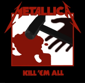 kill em all album art