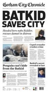Batkid newspaper