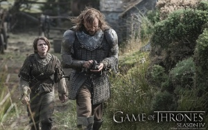 Dog and Arya Stark