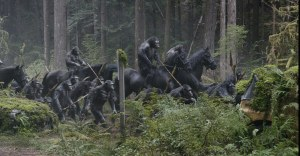 Apes on horses!  Apes on horses!  YES!