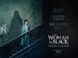 Woman in black angel of death poster